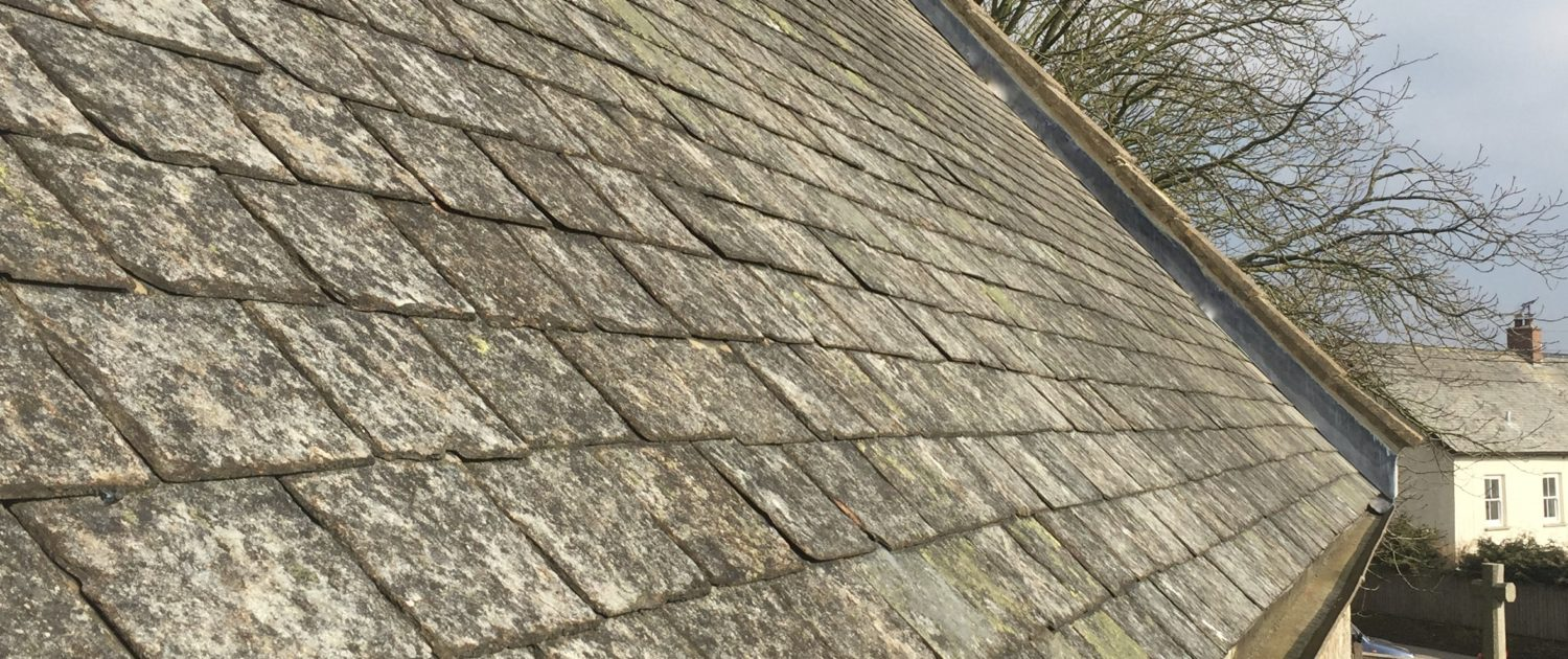 Conservation Roofing - Lapford church chancel roof, Trivillet Slate
