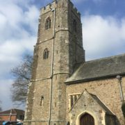 Lapford Church Tower - New Cast Iron Downpipe